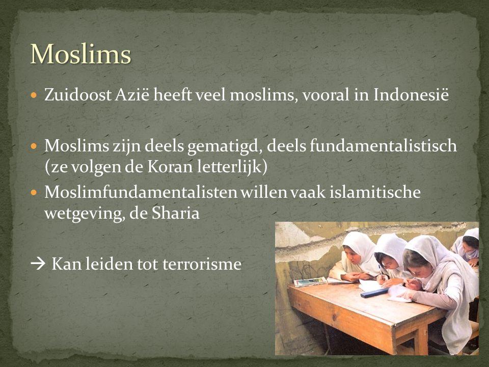 Moslims Zuidoost Azië heeft veel moslims, vooral in Indonesië