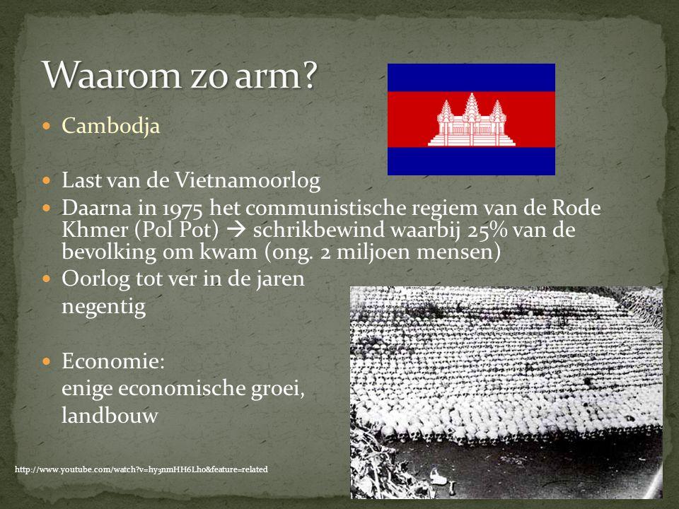 Waarom zo arm Cambodja Last van de Vietnamoorlog