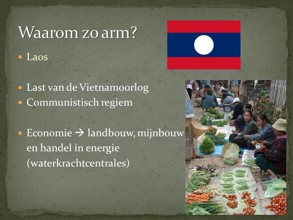 Waarom zo arm Laos Last van de Vietnamoorlog Communistisch regiem