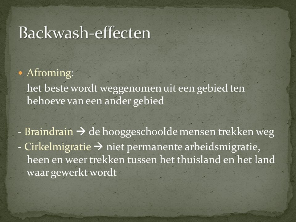 Backwash-effecten Afroming: