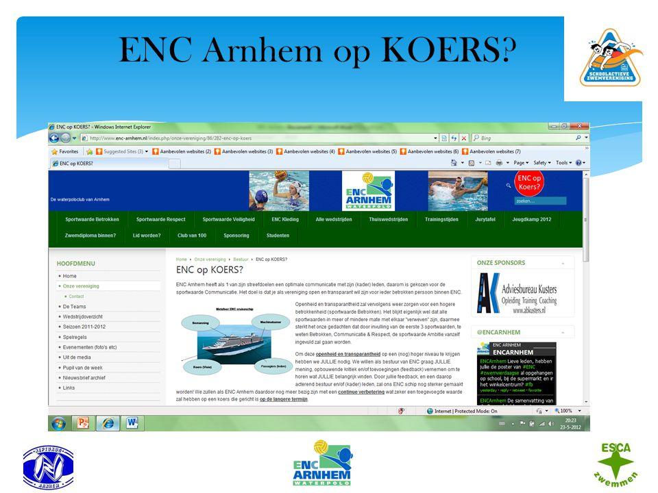 ENC Arnhem op KOERS