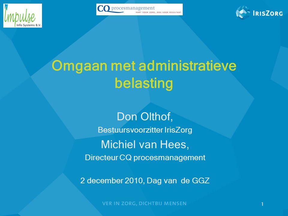 Omgaan met administratieve belasting