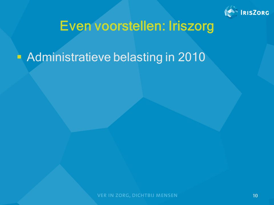 Even voorstellen: Iriszorg