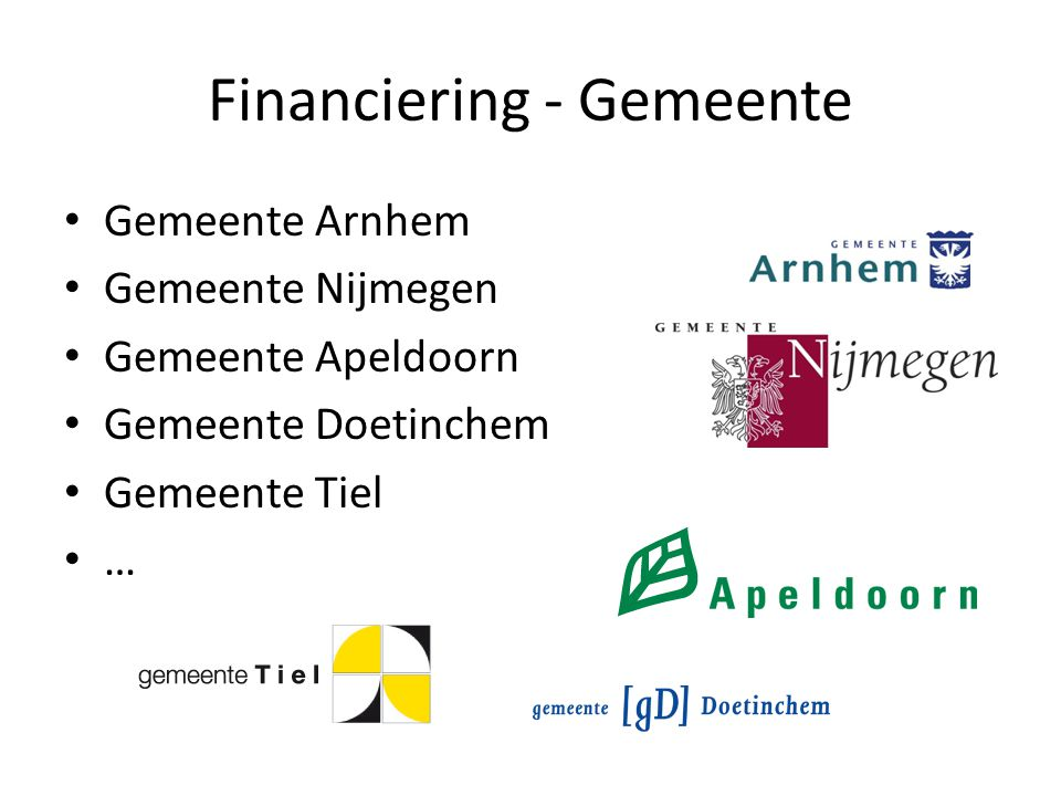 Financiering - Gemeente