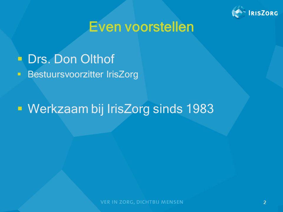Even voorstellen Drs. Don Olthof Werkzaam bij IrisZorg sinds 1983