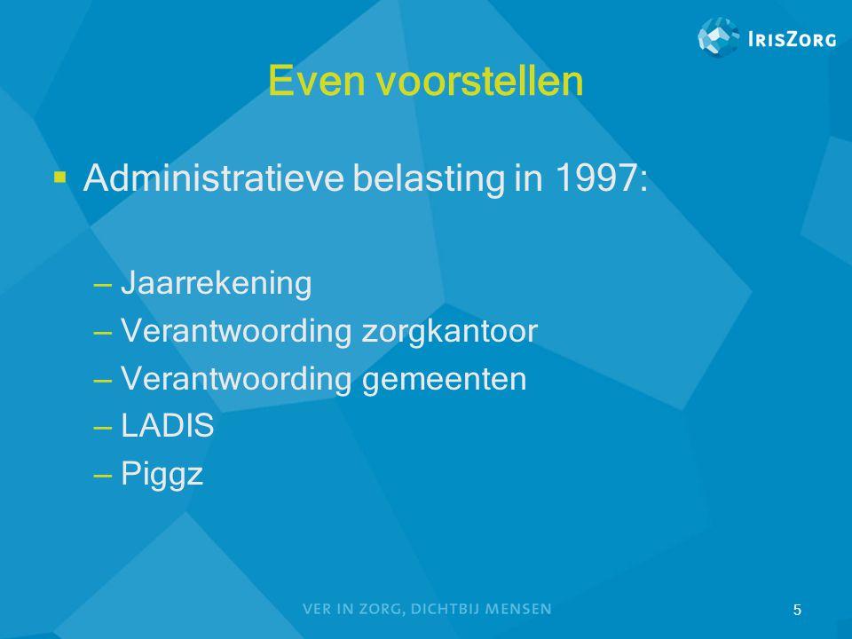 Even voorstellen Administratieve belasting in 1997: Jaarrekening