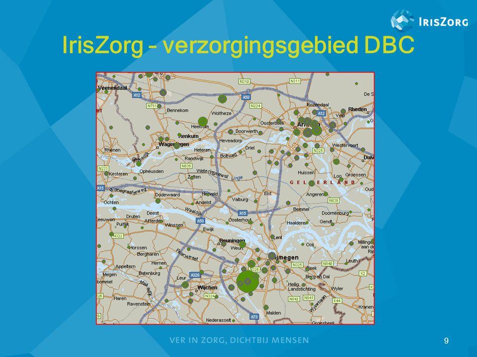 IrisZorg – verzorgingsgebied DBC