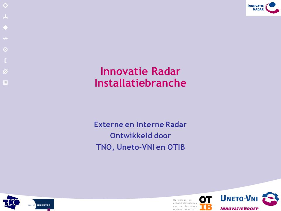 Innovatie Radar Installatiebranche