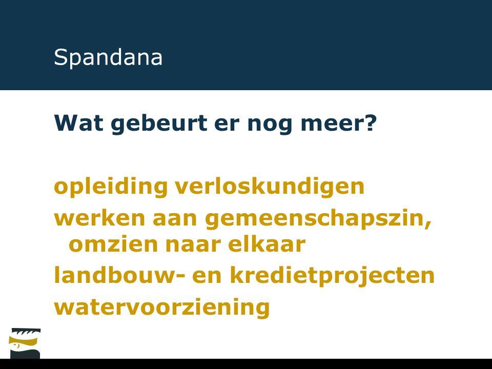 Spandana Wat gebeurt er nog meer opleiding verloskundigen. werken aan gemeenschapszin, omzien naar elkaar.