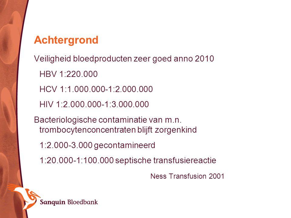 Achtergrond Veiligheid bloedproducten zeer goed anno 2010