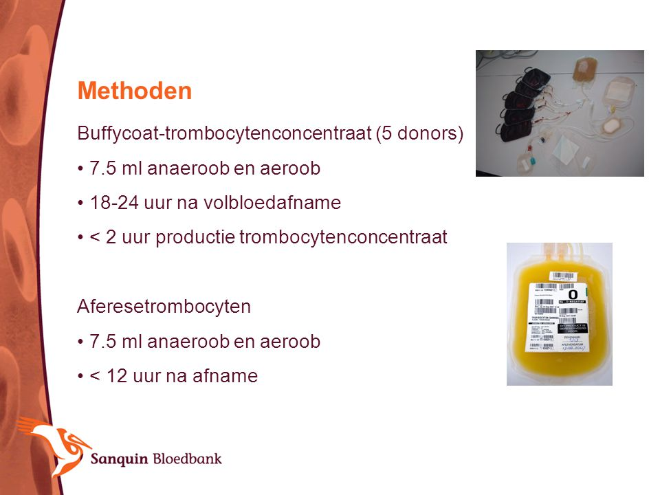 Methoden Buffycoat-trombocytenconcentraat (5 donors)