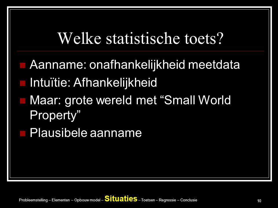 Welke statistische toets