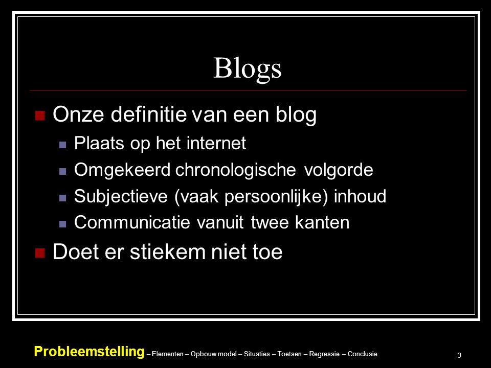 Blogs Onze definitie van een blog Doet er stiekem niet toe