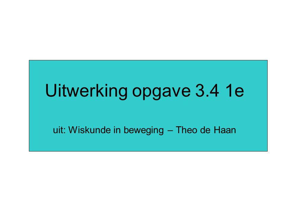 uit: Wiskunde in beweging – Theo de Haan