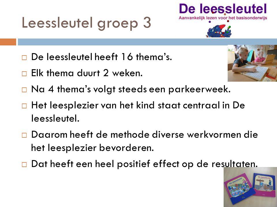 Leessleutel groep 3 De leessleutel heeft 16 thema's.