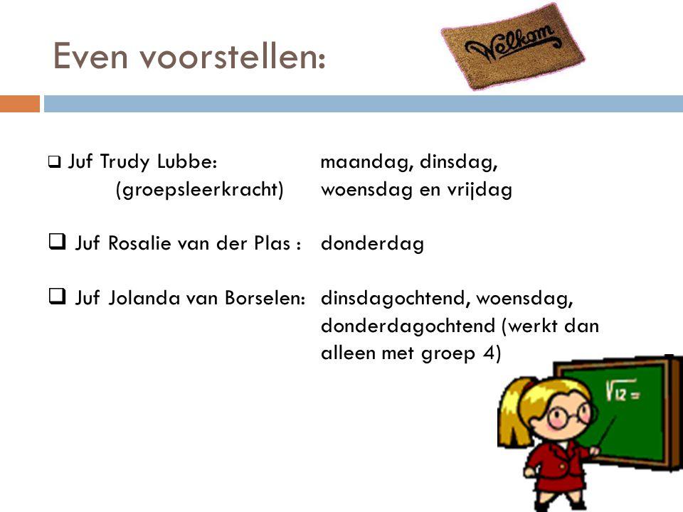 Even voorstellen: Juf Rosalie van der Plas : donderdag
