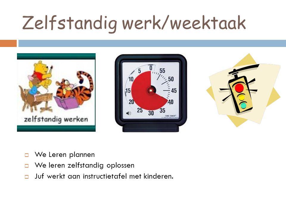 Zelfstandig werk/weektaak