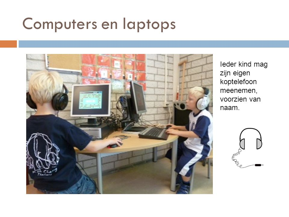 Computers en laptops Ieder kind mag