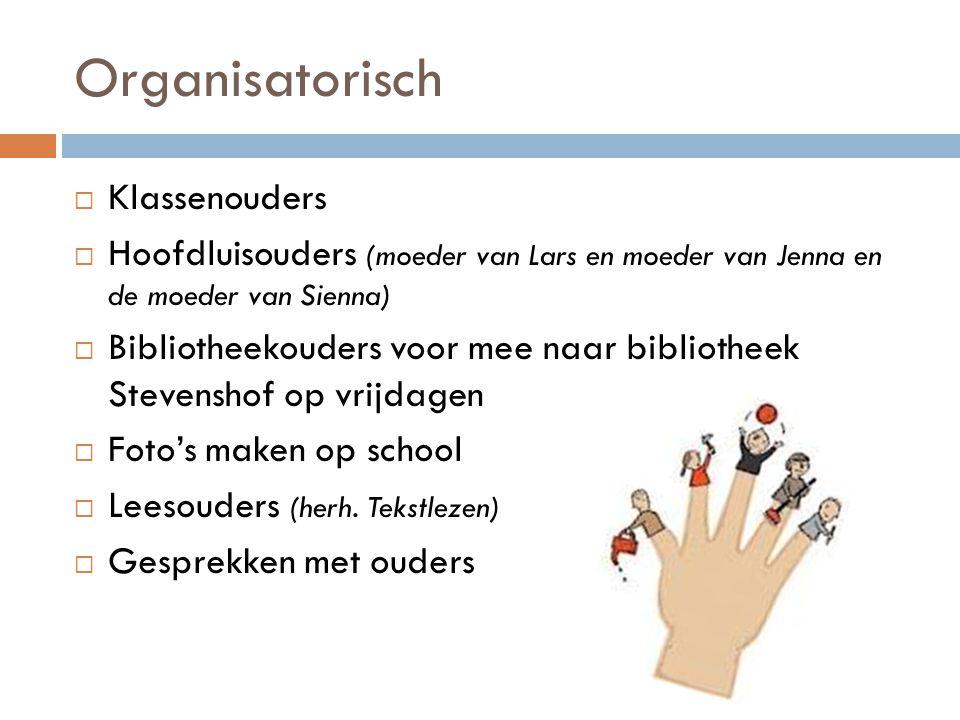 Organisatorisch Klassenouders