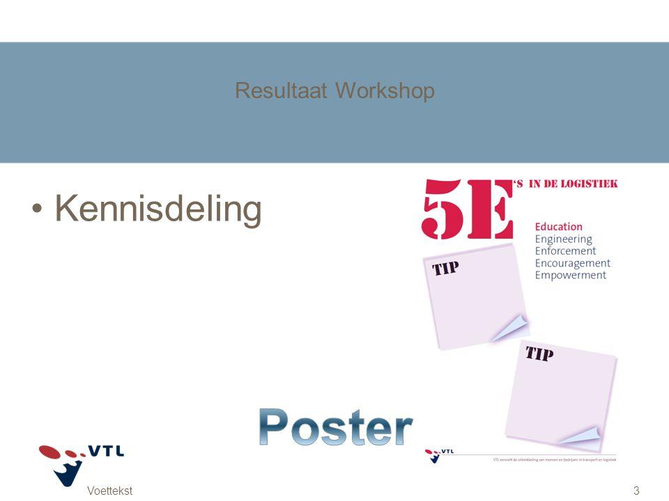 Resultaat Workshop Kennisdeling Poster Voettekst
