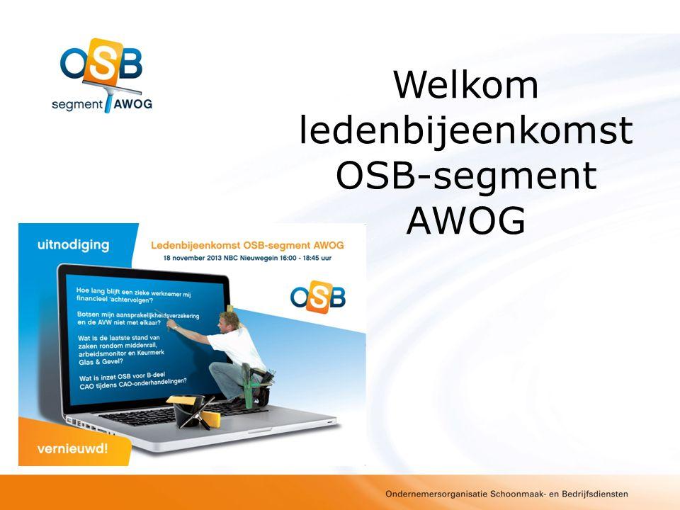 Welkom ledenbijeenkomst OSB-segment AWOG