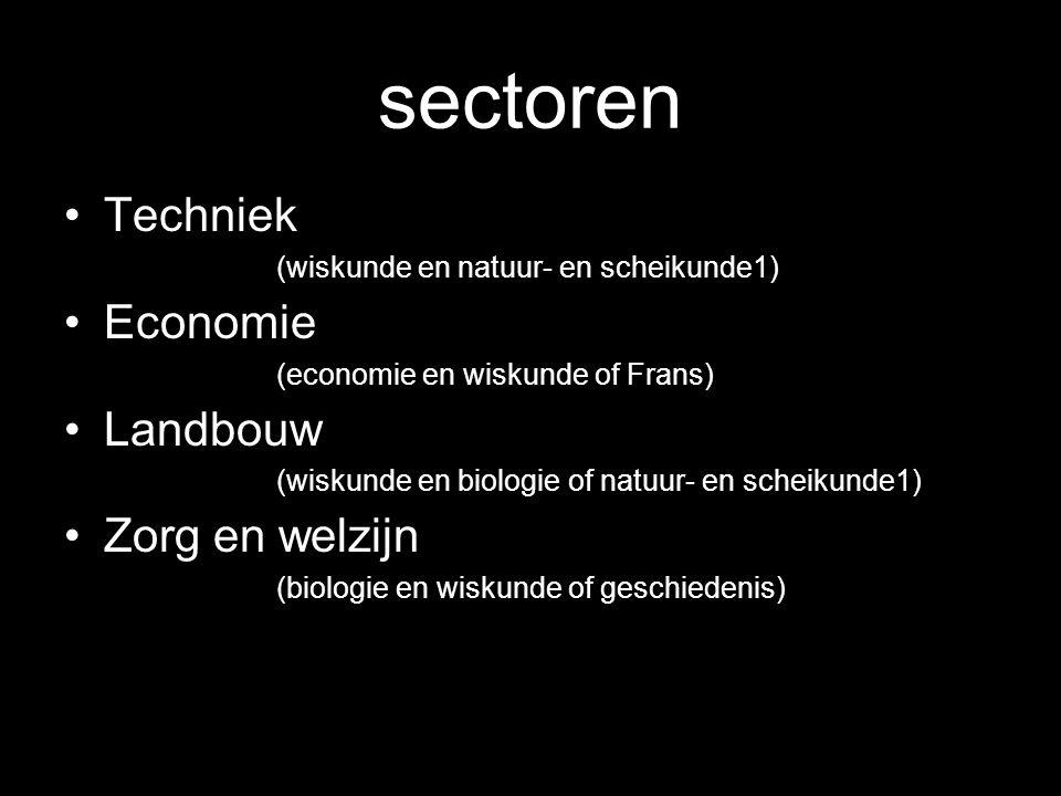 sectoren Techniek (wiskunde en natuur- en scheikunde1)