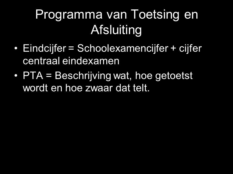 Programma van Toetsing en Afsluiting