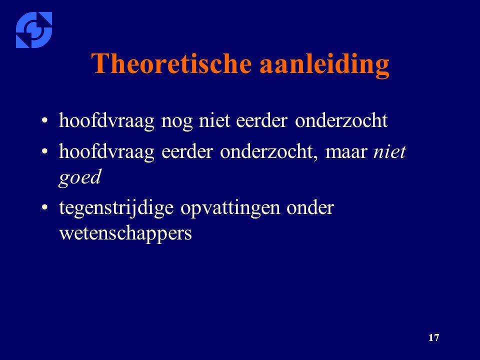 Theoretische aanleiding