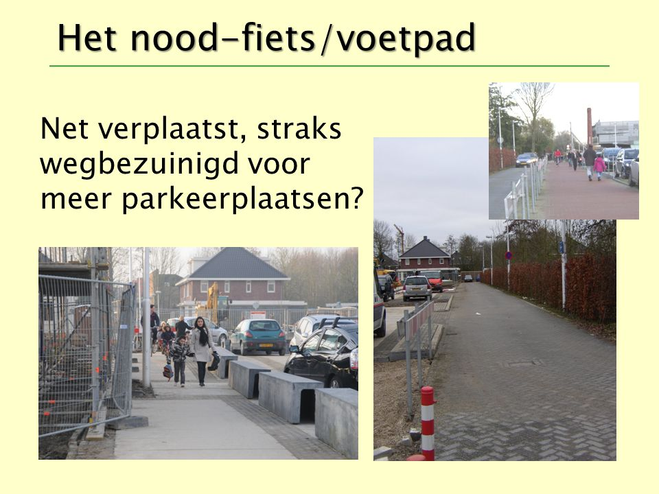 Het nood-fiets/voetpad