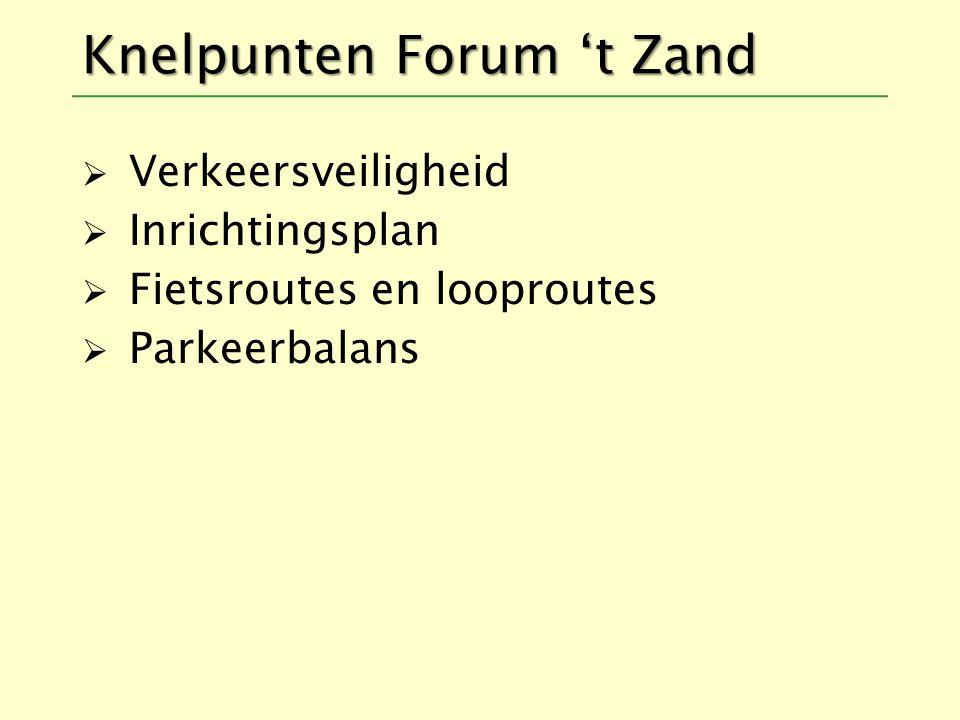 Knelpunten Forum 't Zand