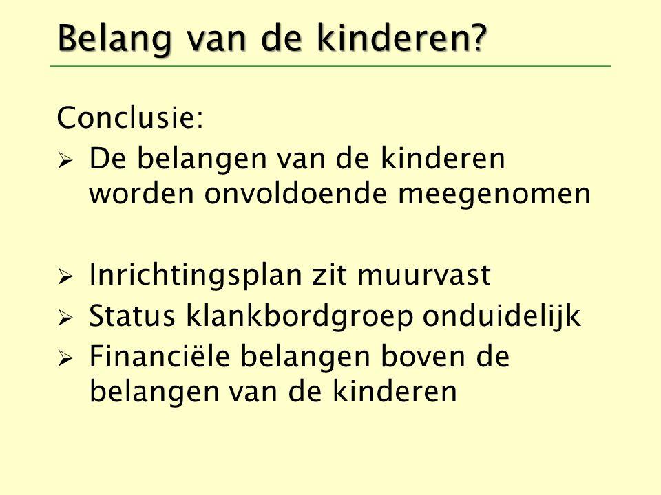 Belang van de kinderen Conclusie: