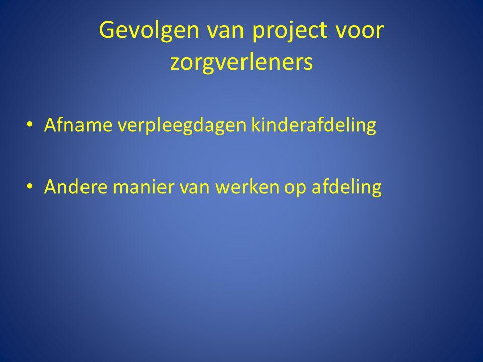 Gevolgen van project voor zorgverleners