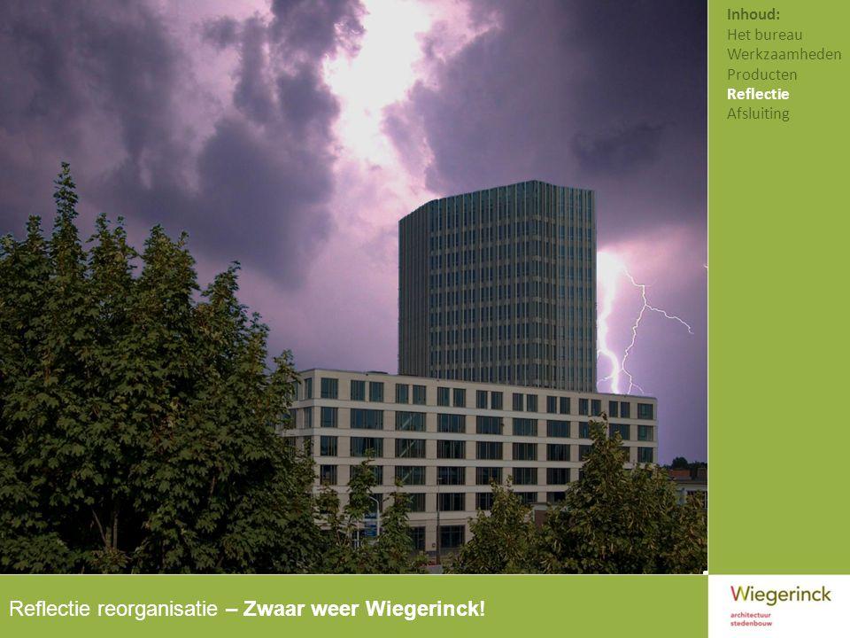 Reflectie reorganisatie – Zwaar weer Wiegerinck!