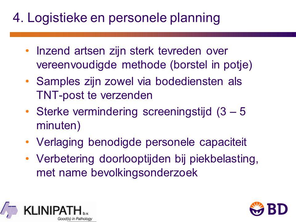 4. Logistieke en personele planning