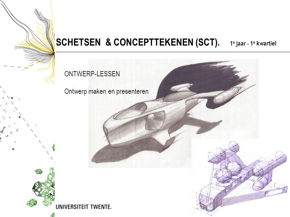 SCHETSEN & CONCEPTTEKENEN (SCT). 1e jaar - 1e kwartiel