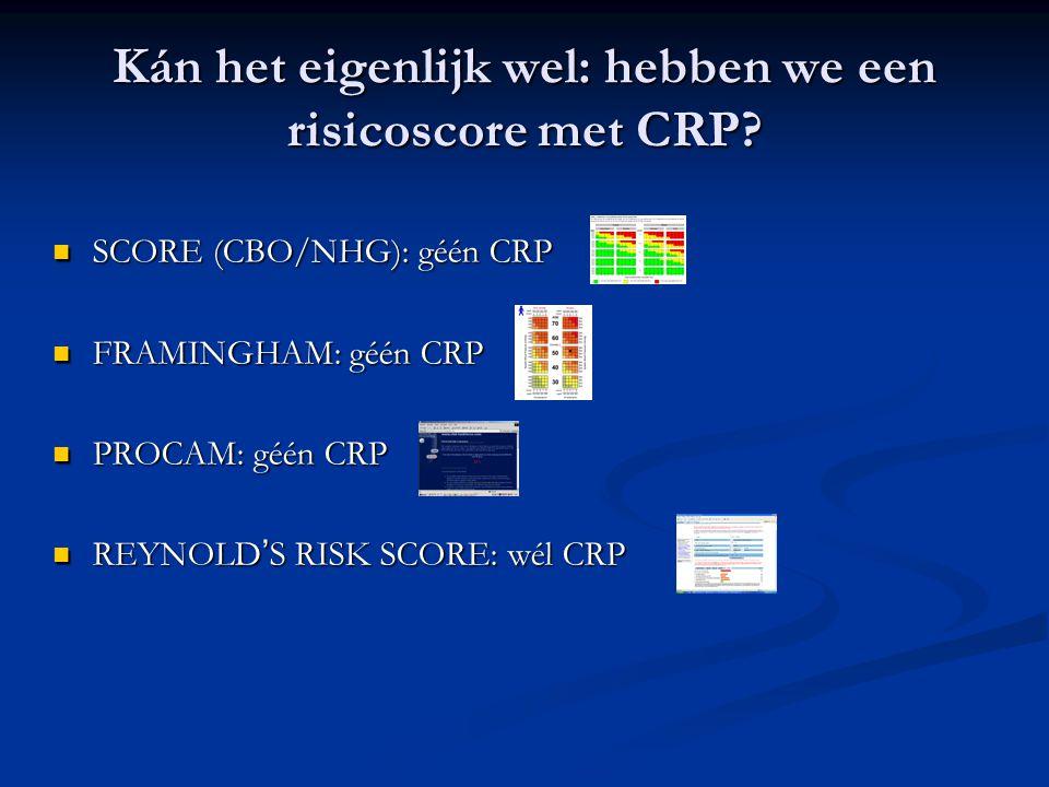 Kán het eigenlijk wel: hebben we een risicoscore met CRP
