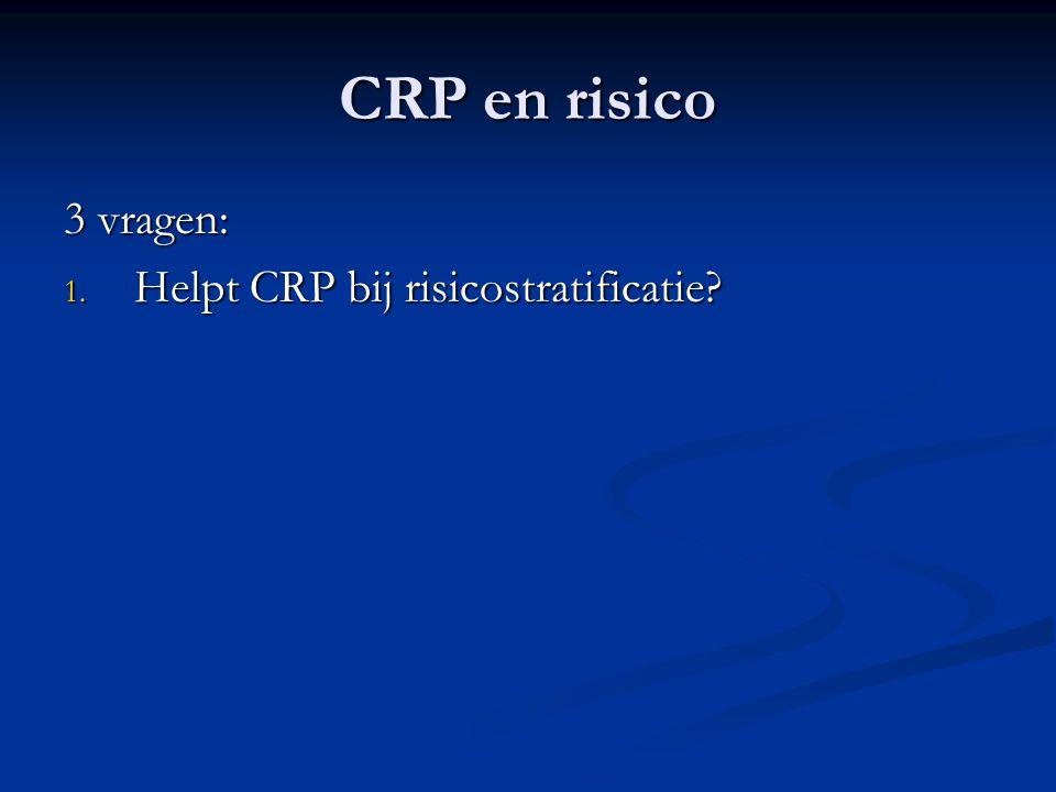 CRP en risico 3 vragen: Helpt CRP bij risicostratificatie