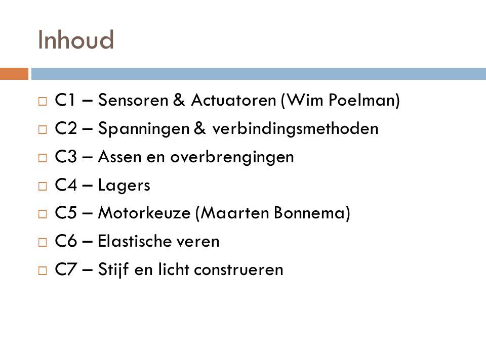 Inhoud C1 – Sensoren & Actuatoren (Wim Poelman)