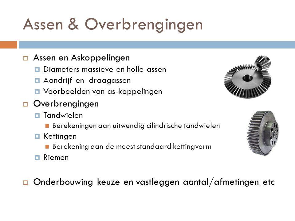 Assen & Overbrengingen