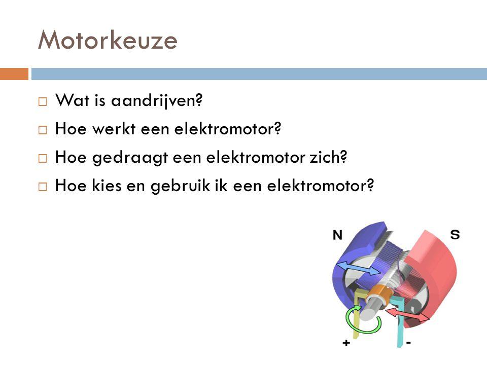 Motorkeuze Wat is aandrijven Hoe werkt een elektromotor