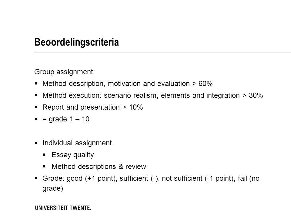 Beoordelingscriteria