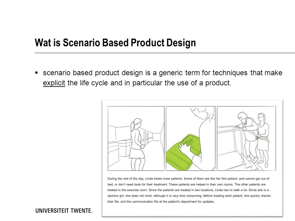 Wat is Scenario Based Product Design