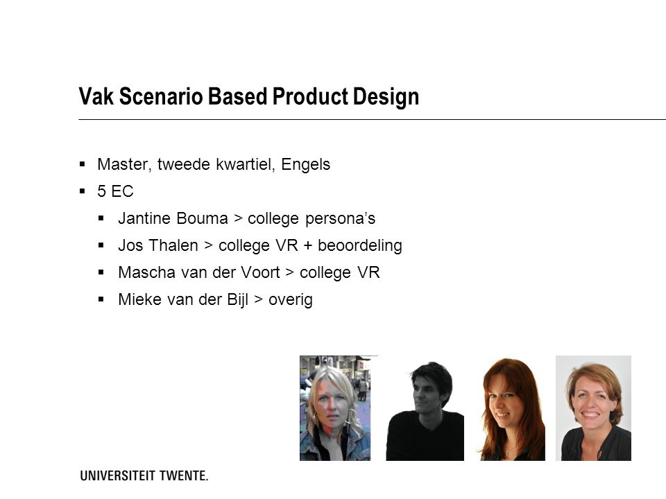 Vak Scenario Based Product Design