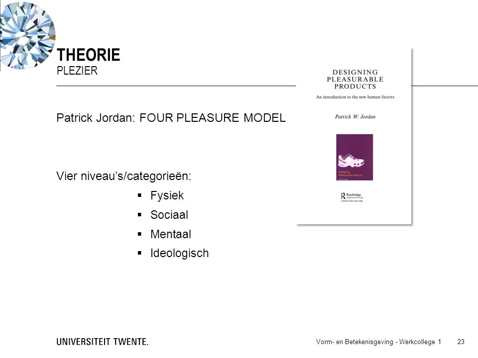 theorie Plezier Patrick Jordan: FOUR PLEASURE MODEL