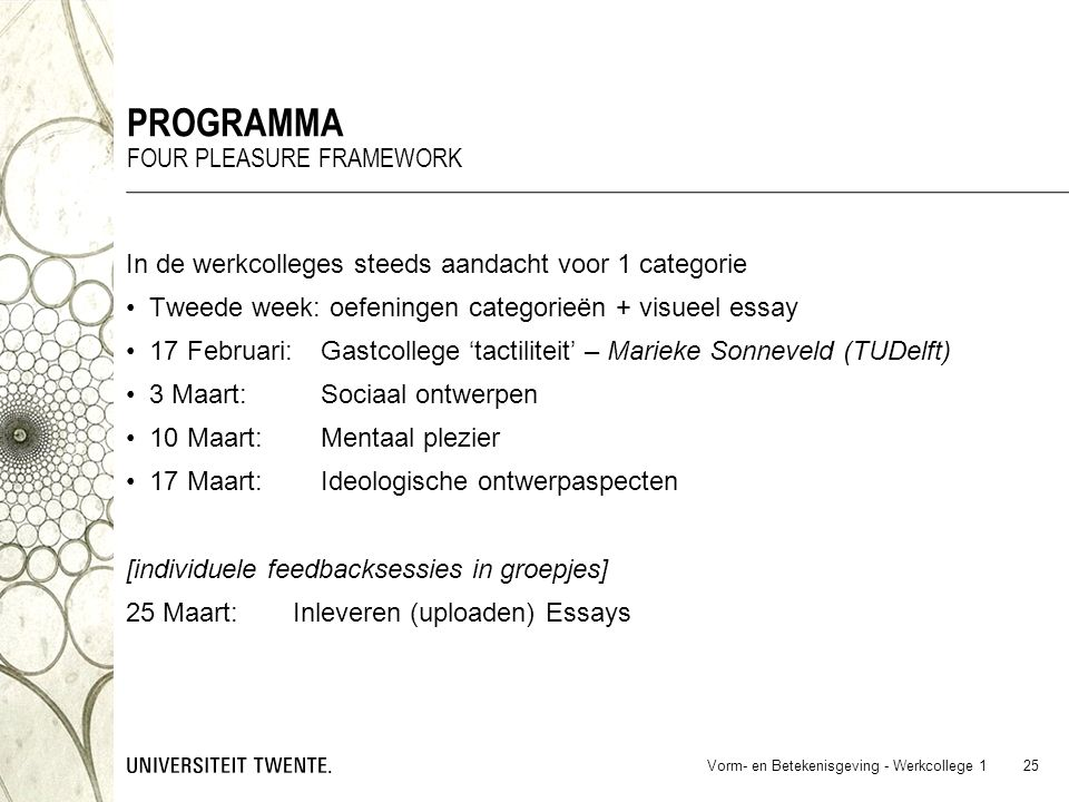 programma Four pleasure framework