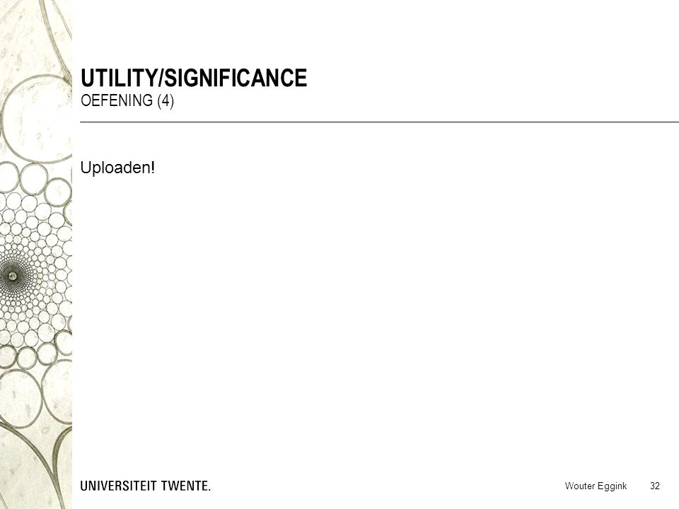 Utility/significance