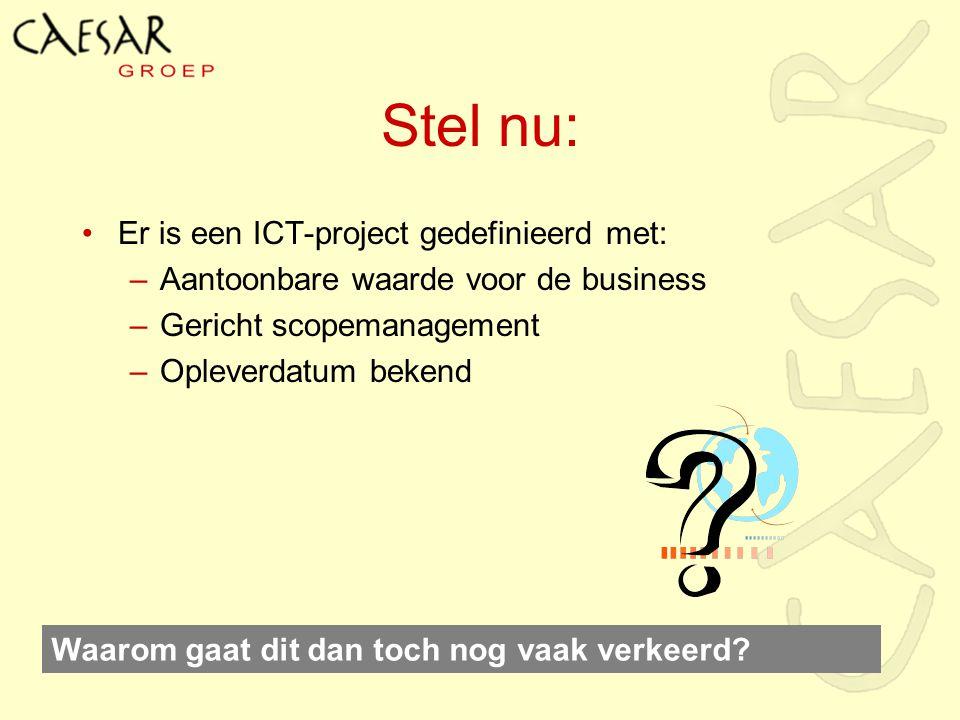 Stel nu: Er is een ICT-project gedefinieerd met: