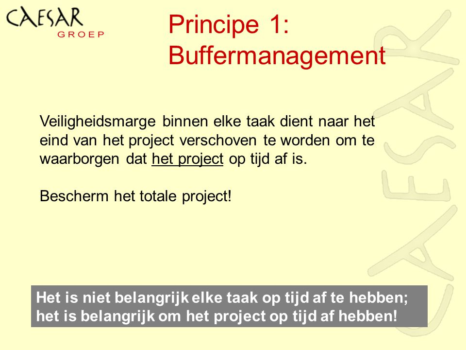 Principe 1: Buffermanagement