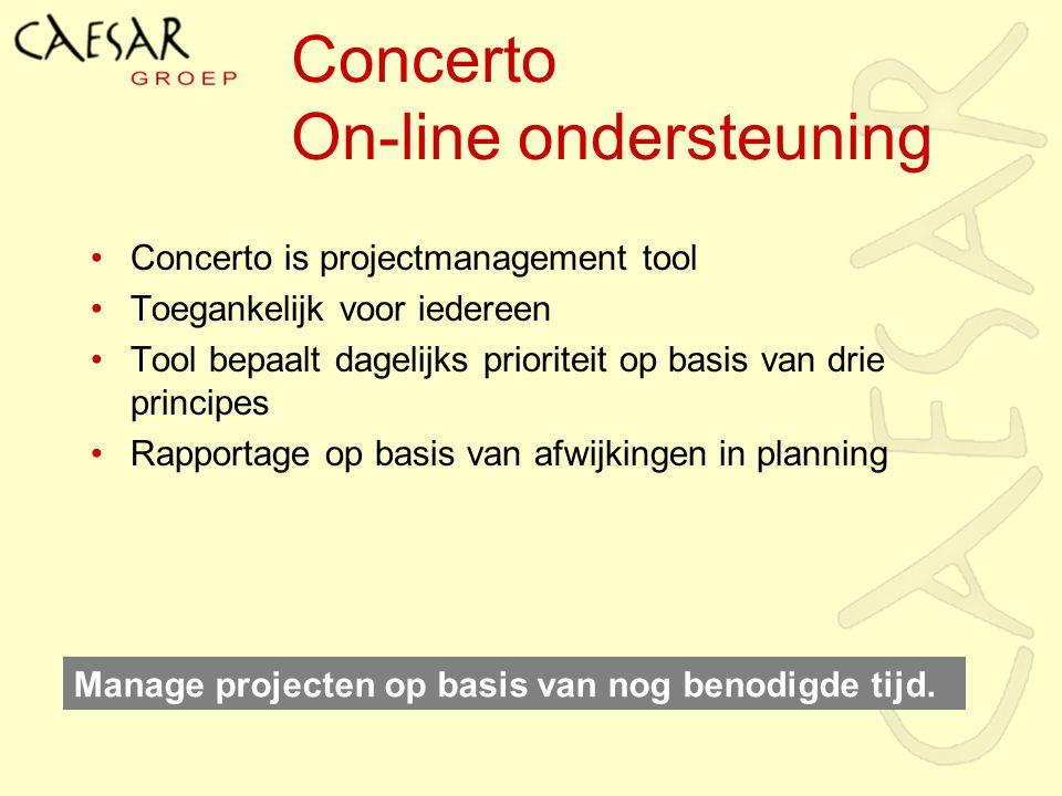 Concerto On-line ondersteuning