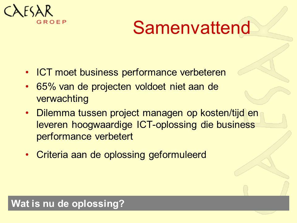 Samenvattend ICT moet business performance verbeteren